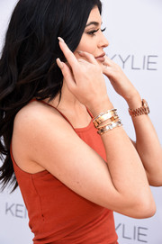 Kylie Jenner opted for a neutral mani when she attended the Kendall + Kylie launch party.