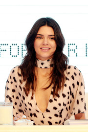 Kendall Jenner looked oh-so-pretty with her boho waves at the launch of Kendall + Kylie at Forever New.
