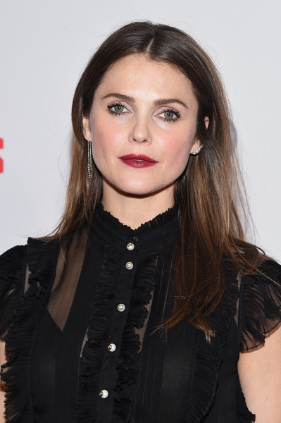 Keri Russell Long Center Part [the americans,season,hair,hairstyle,lip,beauty,eyebrow,long hair,black hair,brown hair,keri russell,season,new york city,premiere,premiere]