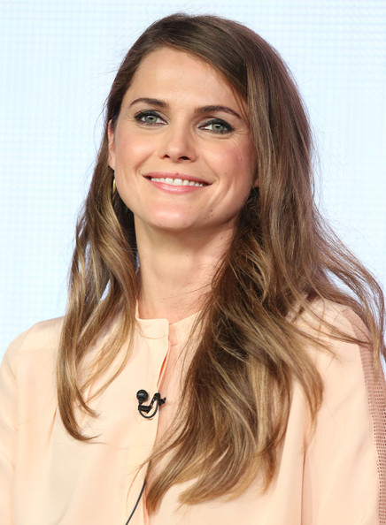 Keri Russell Long Side Part [television show,the americans,hair,face,hairstyle,eyebrow,long hair,layered hair,blond,skin,beauty,chin,keri russell,california,pasadena,winter tca,fx networks,spa,portion,winter television critics association press tour]