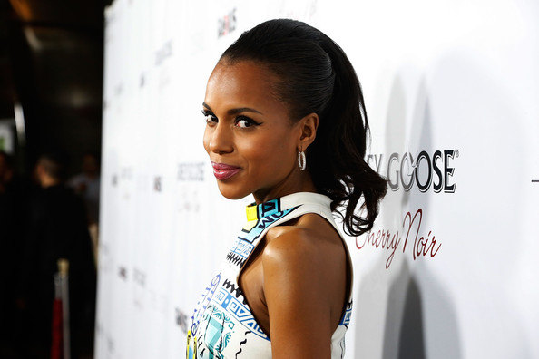 Kerry Washington Retro Updo