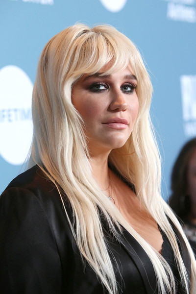 Kesha Layered Cut [the hollywood reporter,hair,blond,face,hairstyle,lady,layered hair,beauty,hair coloring,chin,long hair,power 100 women in entertainment - red carpet,power 100 women in entertainment,kesha,california,los angeles,hollywood reporter,milk studios]