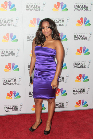 Keshia Knight Pulliam Strapless Dress