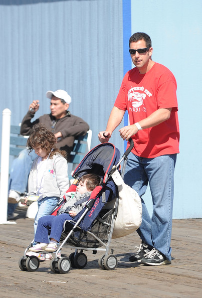 More Pics of Adam Sandler Rectangular Sunglasses (1 of 10) - Adam Sandler Lookbook - StyleBistro [baby carriage,product,baby products,kevin,steffiana james host,adam sandler,steffiana james,santa monica pier,california,a make-a-wish,make a wish foundation,event,event]