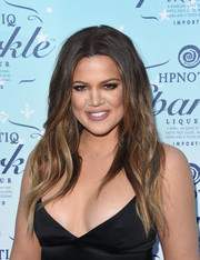 Khloe Kardashian looked cool with her long ombre tresses at the HYNOTIQ launch.