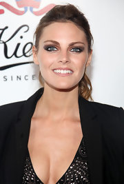 Amaia Salamanca pulled her hair back in a curled ponytail at the 160th anniversary party of Kiehl's.