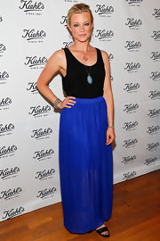 Amy Smart stepped out in a basic black tank and a long skirt.