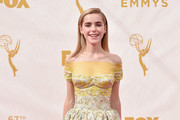 Kiernan Shipka Off-the-Shoulder Dress