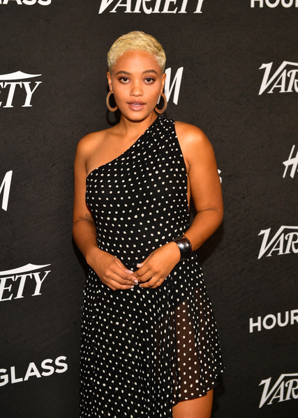 Kiersey Clemons Cuff Bracelet [clothing,dress,hairstyle,shoulder,premiere,design,event,fashion model,pattern,little black dress,variety,annual power of young hollywood - arrivals,power,young hollywood,west hollywood,california,sunset tower hotel,kiersey clemons]