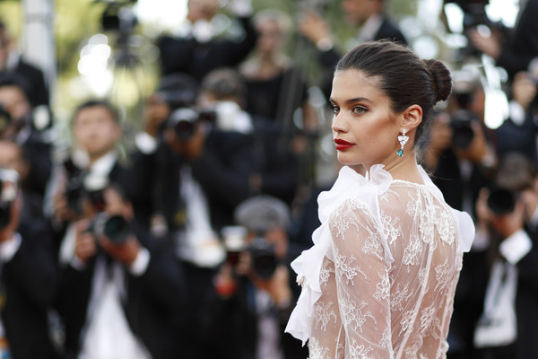 More Pics of Sara Sampaio Red Lipstick (5 of 41) - Makeup Lookbook - StyleBistro [the killing of a sacred deer,hair,fashion,hairstyle,beauty,lady,skin,dress,haute couture,lip,fashion model,sara sampaio,screening,cannes,france,red carpet arrivals,cannes film festival,palais des festivals]