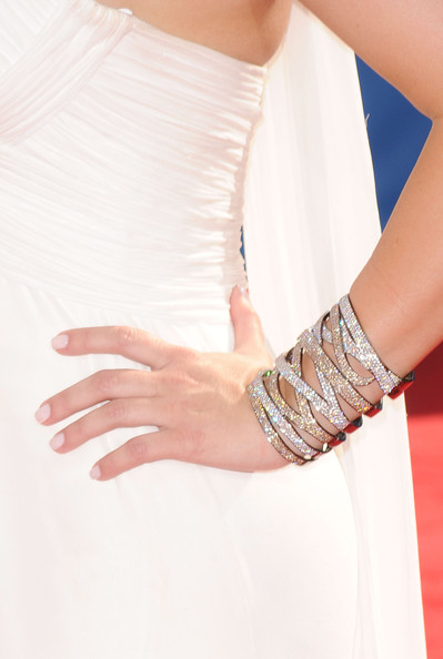 Kim Kardashian jewelry detail arrives at the 62nd Annual Primetime Emmy