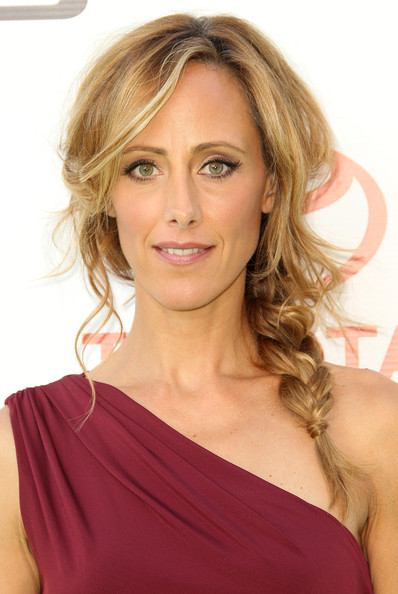 Kim Raver Long Braided Hairstyle