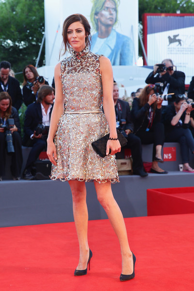 Anna Mouglalis dazzled in a beaded mini dress during the Kineo Awards ceremony.
