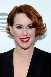 Molly Ringwald sported a short, curly bob at the Tribeca Film Festival premiere of 'King Cobra.'