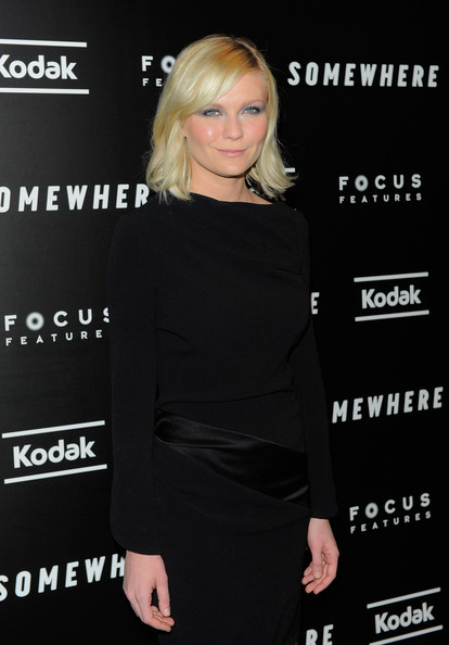 Kirsten Dunst Medium Wavy Cut with Bangs