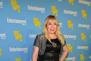 Kirsten Vangsness Leather Dress