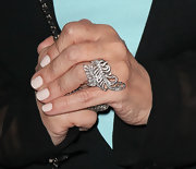 Sharon Osbourne wore an ornate diamond-studded ring at the Kreiss 75th anniversary celebration.