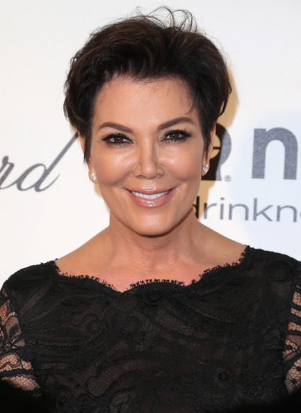 Kris Jenner Fauxhawk [hair,hairstyle,face,eyebrow,skin,beauty,lip,shoulder,chin,forehead,kris jenner,elton john aids foundation oscar viewing party,part,california,los angeles,elton john aids foundation,oscar viewing party]