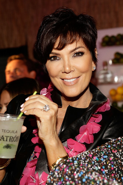 Kris Jenner Messy Cut [hair,hairstyle,beauty,black hair,smile,maria menounos,kris jenner,c. wonder and patron tequila party,patron tequila,california,los angeles,party,c. wonder,birthday]