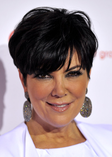 Kris Jenner Messy Cut [hair,face,hairstyle,chin,eyebrow,black hair,forehead,bangs,bob cut,pixie cut,arrivals,kris jenner,beverly hills,california,comcast entertainment group,summer tca cocktail party]