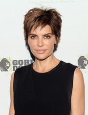 Lisa Rinna debuted a shorter messy-chic layered hairstyle during the Gorilla Doctors of Africa benefit.