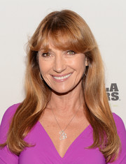 Jane Seymour wore her hair loose with eye-grazing bangs when she attended the Gorilla Doctors of Africa benefit.