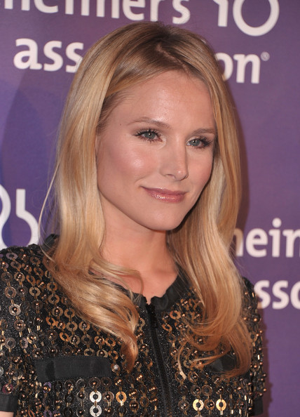 Kristen Bell Long Straight Cut [a night at sardis,hair,face,blond,hairstyle,eyebrow,long hair,hair coloring,layered hair,chin,brown hair,kristen bell,red carpet,fundraiser and awards,beverly hills,california,alzheimers association,a night at sardis]