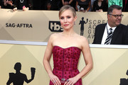 Kristen Bell Strapless Dress