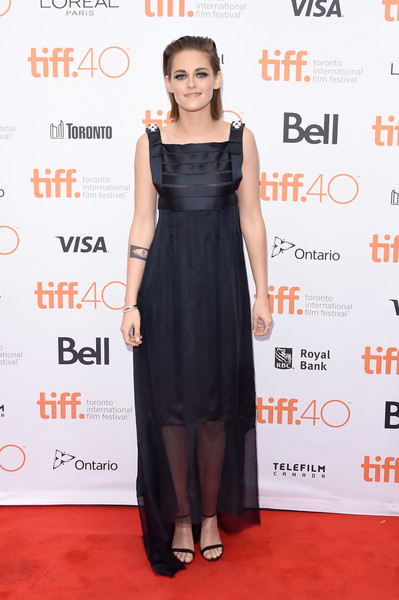 Kristen Stewart Evening Dress [equals,dress,clothing,cocktail dress,fashion model,red carpet,carpet,shoulder,little black dress,premiere,fashion,kristen stewart,toronto,canada,princess of wales theatre,toronto international film festival - equals premiere,premiere]