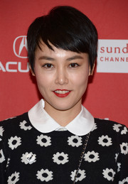 Rinko Kikuchi looked adorable wearing this pixie at the Sundance premiere of 'Kumiko, the Treasure Hunter.'