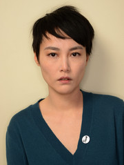 Rinko Kikuchi posed for a portrait at the 2014 Sundance Film Festival sporting a tousled pixie.