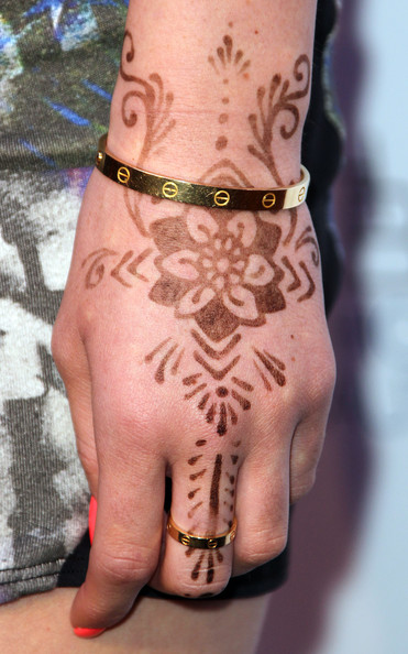 I was watching KUWTK a few days ago and I noticed the Henna tattoo on Kylie