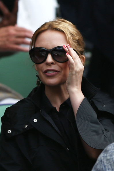 Kylie Minogue Dangling Gemstone Earrings
