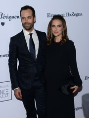 Natalie Portman attended the L.A. Dance Project's annual gala carrying a structured black satin clutch.