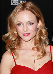 Heather Graham wore her shiny strawberry blond locks in bouncy curls at an LA Gay & Lesbian Center benefit for Homeless Youth Services.