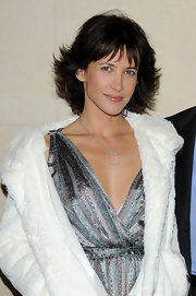 Sophie Marceau's diamond pendant added the touch of sparkle her overall style needed.