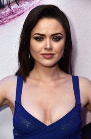 Kristina Bazan sported a side-parted straight 'do with a teased top at the L'Oreal Paris Blue Obsession party.