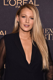 Blake Lively wore her super-long tresses in a simple straight style at the L'Oreal Paris Women of Worth celebration.