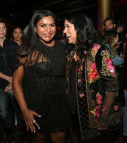 Mindy Kaling's diamond ring added a bright spot to her LBD at the LA premiere of 'Late Night.'