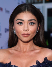 Sarah Hyland opted for a straight, center-parted hairstyle when she attended the LA premiere of 'The Wedding Year.'