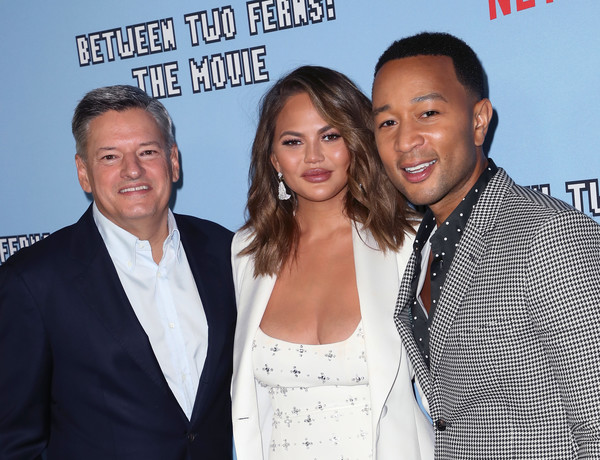 More Pics of Chrissy Teigen Mini Dress (1 of 16) - Dresses & Skirts Lookbook - StyleBistro [la premiere,between two ferns: the movie,event,premiere,white-collar worker,suit,smile,arrivals,john legend,chrissy teigen,l-r,arclight hollywood,la,netflix,premiere]
