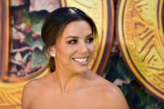 Eva Longoria went for classic styling with a pair of diamond studs.