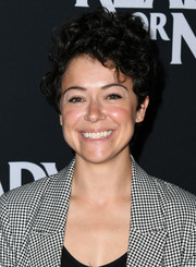 Tatiana Maslany looked adorable with her short curls at the LA screening of 'Ready or Not.'