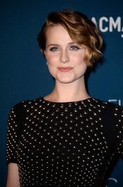 Evan Rachel Wood looked darling with her retro updo at the LACMA Art + Film Gala.