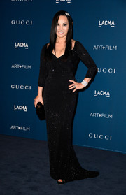 Eva Chow chose a figure-hugging beaded black gown for the LACMA Art + Film Gala.