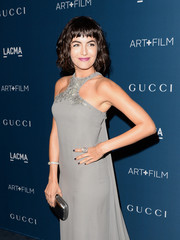 Camilla Belle styled her gray gown with a Cartier diamond bracelet and a matching ring for the LACMA Art + Film Gala.
