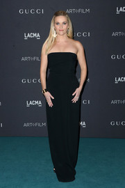 Reese Witherspoon kept it understated yet elegant in a strapless black column dress by Brandon Maxwell at the LACMA Art + Film Gala.