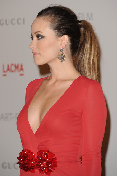 Olivia Wilde's Metallic Eyes and Sleek Ponytail