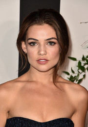 Danielle Campbell looked gorgeous wearing this loose updo at the Land of Distraction launch.