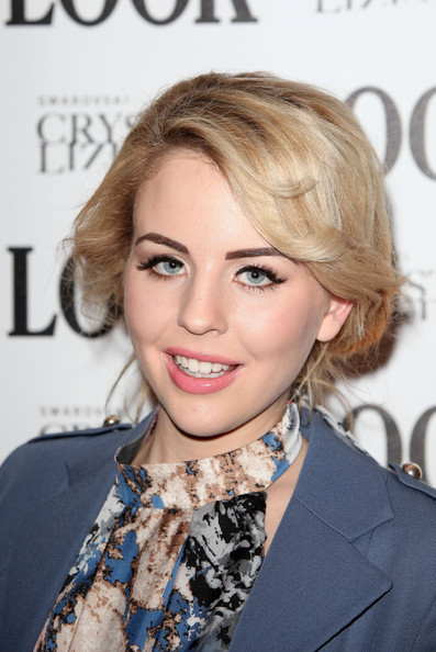 More Pics of Lydia Bright Pink Lipstick (1 of 4) - Lydia Bright Lookbook - StyleBistro